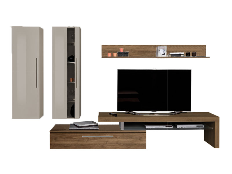 arte m medio wohnwand 2x h ngeelement tv element und wandboard variante w hlbar ebay. Black Bedroom Furniture Sets. Home Design Ideas