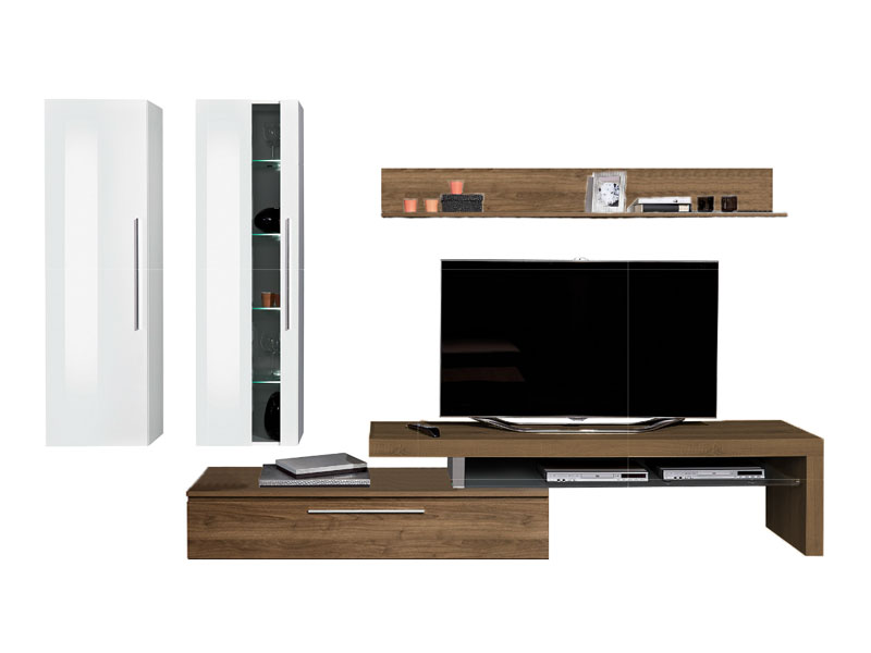 arte m medio wohnwand 2x h ngeelement tv element und. Black Bedroom Furniture Sets. Home Design Ideas