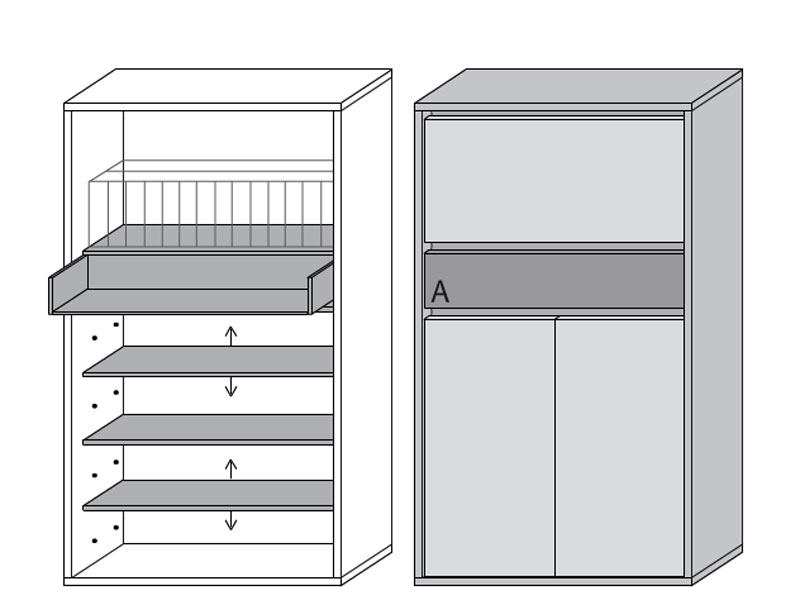 wittenbreder muchele merano garderobe mehrzweck schrank 311 f r flur diele. Black Bedroom Furniture Sets. Home Design Ideas