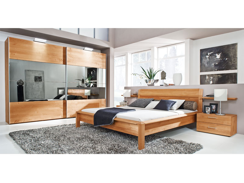 loddenkemper navaro schlafzimmer kernbuche massiv ge lt mit spiegel ebay. Black Bedroom Furniture Sets. Home Design Ideas