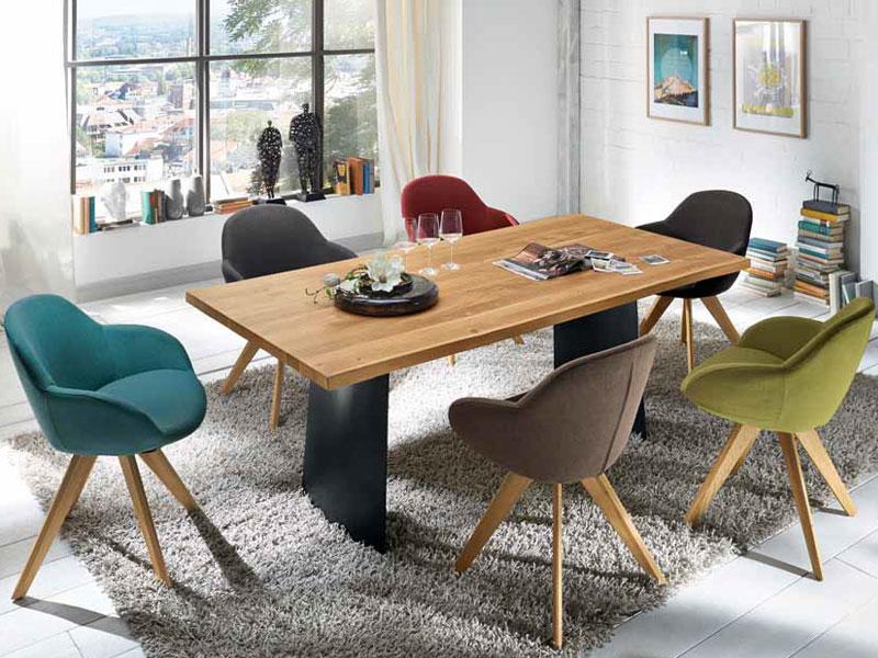 Halb Sessel, Halb Stuhl Passen Stühle Für Das Esszimmer Auch Ins Wohnzimmer.