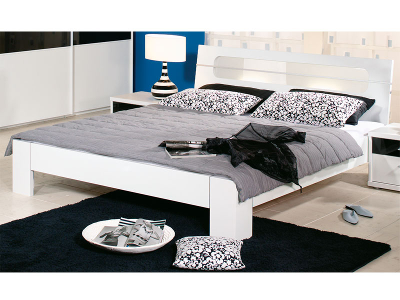 rauch plus 2 alu futonbett bett 2 plus alu kopfteil beleuchtung milchglas ebay. Black Bedroom Furniture Sets. Home Design Ideas