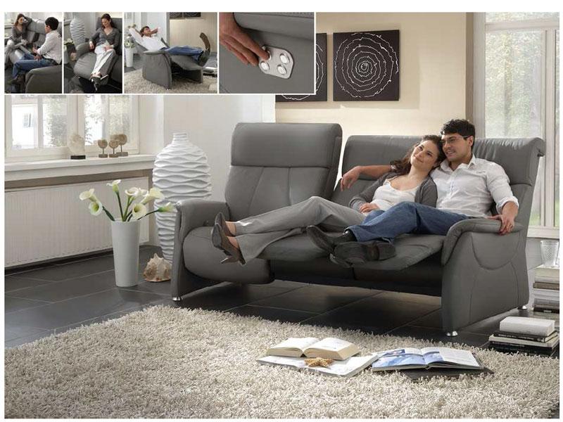 steinpol polsteria magic relaxx sofa stoff sowie leder. Black Bedroom Furniture Sets. Home Design Ideas
