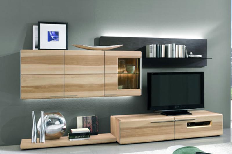 Wohnwand echtholz massiv  Wohnwand Massiv Modern ~ Verschiedenes interessantes Design für ...