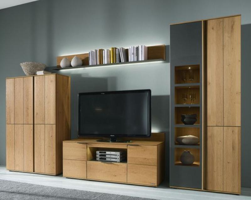 thielemeyer avida wohnzimmer wohnwand 2 massiv treibholz design asteiche neu ebay. Black Bedroom Furniture Sets. Home Design Ideas