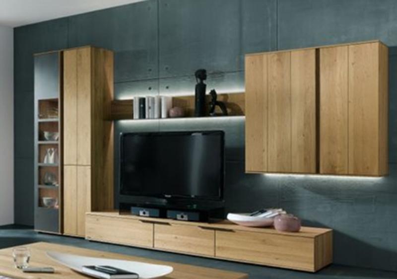 thielemeyer avida wohnzimmer wohnwand 9 massiv treibholz design asteiche neu ebay. Black Bedroom Furniture Sets. Home Design Ideas