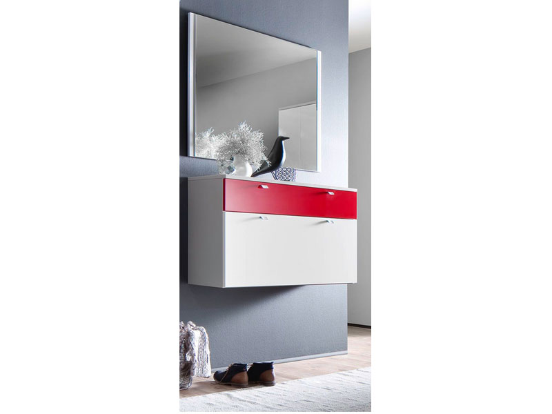 schuhschrank spiegel kompaktgarderobe sina garderobe schuhschrank spiegel flur wei. Black Bedroom Furniture Sets. Home Design Ideas
