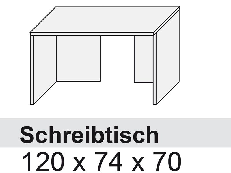 Schreibtisch büro weiß  Arte M Schreibtisch Büro work 956200 Arte-M Nussbaum HN weiss ...