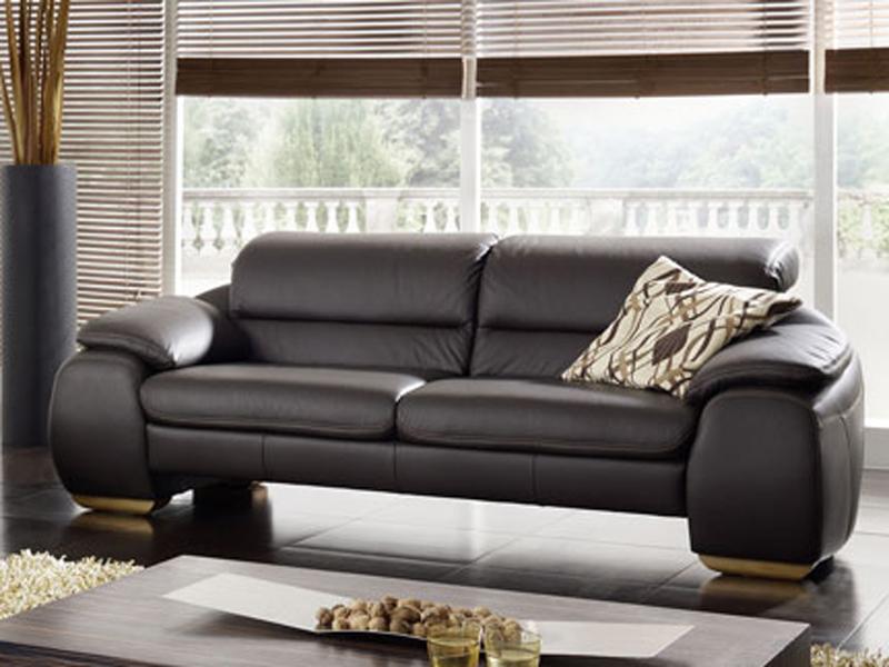 K+W Barny Polstergarnitur KW Möbel hochwertiges Sofa in Leder ...