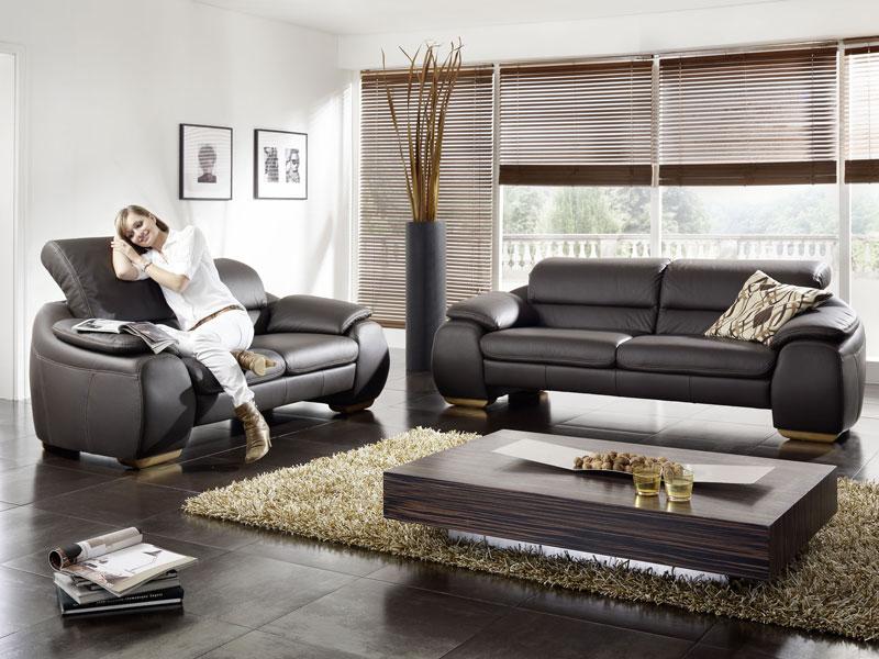 k w barny polstergarnitur kw m bel hochwertiges sofa in leder longlife echtleder. Black Bedroom Furniture Sets. Home Design Ideas