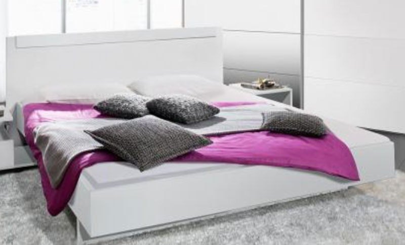 arte m basic bett bettgestell doppelbett rahmen abs kopfteil schwebesockel wei ebay. Black Bedroom Furniture Sets. Home Design Ideas