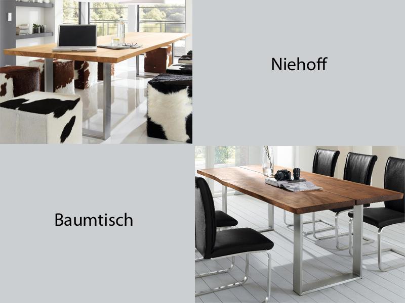 niehoff baumtisch typ 9643 esszimmertisch f r esszimmer ausf hrung w hlbar ebay. Black Bedroom Furniture Sets. Home Design Ideas