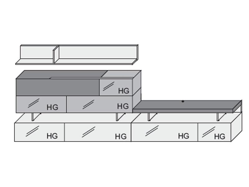Arte m beam wohnwand wohnzimmer vorschlagskombi hochglanz wei bis zu 50 g nstiger kaufen - Arte m wohnwand ...