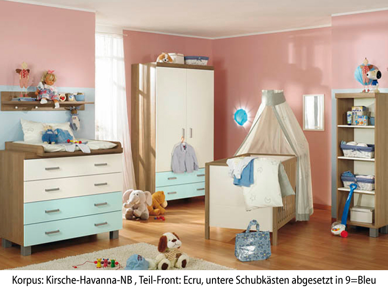 paidi leo babyzimmer kinderzimmer kirsche hav ecru bleu. Black Bedroom Furniture Sets. Home Design Ideas