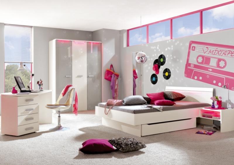 r hr bush jugendzimmer korpus front weiss absetzung silbergrau ebay. Black Bedroom Furniture Sets. Home Design Ideas