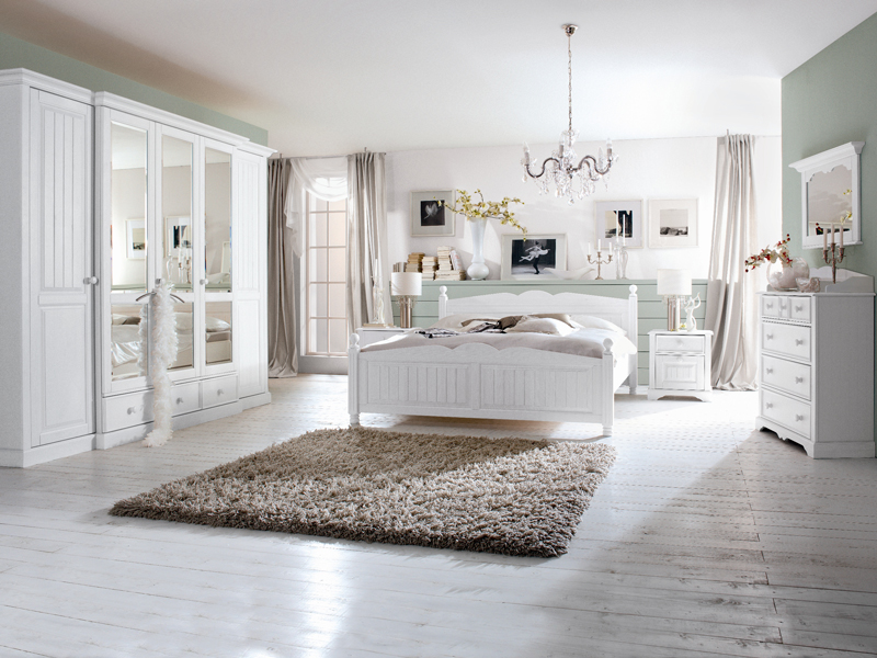 schlafzimmer cinderella kiefer massiv wei schrank bett ebay. Black Bedroom Furniture Sets. Home Design Ideas