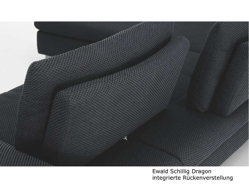 ewald schillig dragon ecksofa sofa 2 sitzer anbausofa armlehne inkl 4 kissen ebay. Black Bedroom Furniture Sets. Home Design Ideas