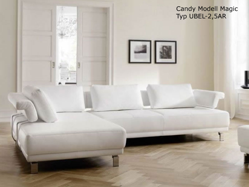 candy ecksofa magic polsterecke polsterm bel sitzvorzug wohnzimmer leder stoff ebay. Black Bedroom Furniture Sets. Home Design Ideas