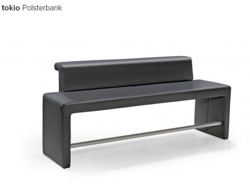 arte m tokio polsterbank hoch bank f r esszimmer sitzbank kunstleder ebay. Black Bedroom Furniture Sets. Home Design Ideas