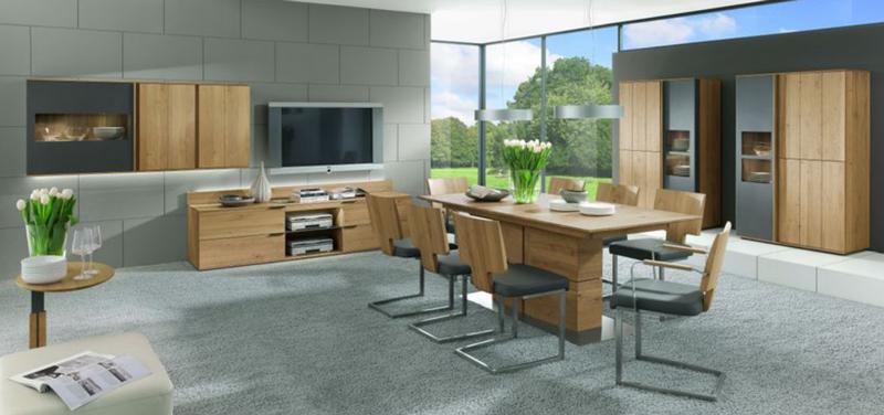 thielemeyer avida wohnzimmer esszimmer massiv treibholz design asteiche neu ebay. Black Bedroom Furniture Sets. Home Design Ideas