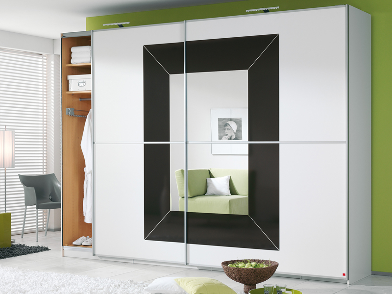 kleiderschrank focus rauch schwebet renschrank schrank wei basaltglas w hlbar ebay. Black Bedroom Furniture Sets. Home Design Ideas