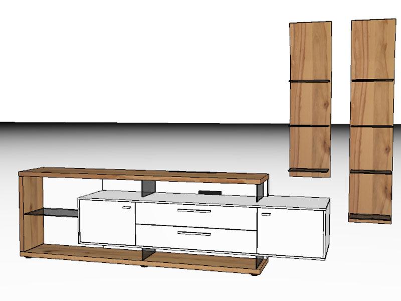 gwinner mediaconcept wohnwandkombination mc906 oder mc906 sv ebay. Black Bedroom Furniture Sets. Home Design Ideas