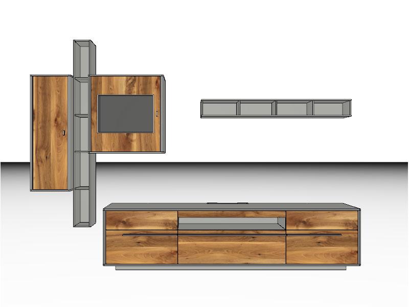 gwinner piana wohnwandkombination pn1 oder pn1 sv anbauwand ebay. Black Bedroom Furniture Sets. Home Design Ideas