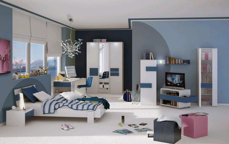 r hr bush hilight jugendzimmer kleiderschrank vitrine bett. Black Bedroom Furniture Sets. Home Design Ideas