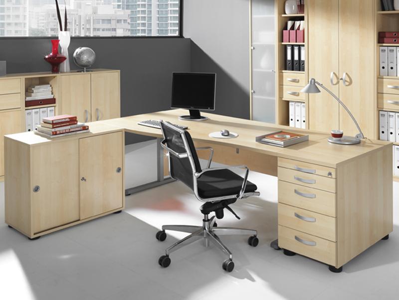 Wellemöbel Büromöbel JOBexpress Büro Welle Möbel Schreibtisch 3 ...