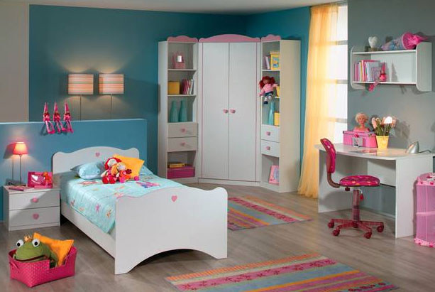 rauch joy kinderzimmer 6 teilig bett nachtkonsole. Black Bedroom Furniture Sets. Home Design Ideas