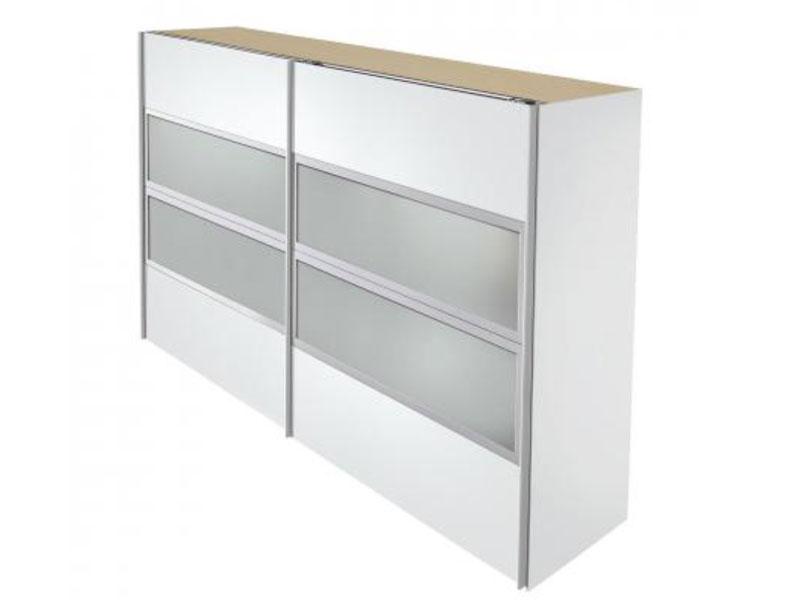 arte m kick schwebet renschrank absetzung wei mit 4x floatglas rahmen silber ebay. Black Bedroom Furniture Sets. Home Design Ideas