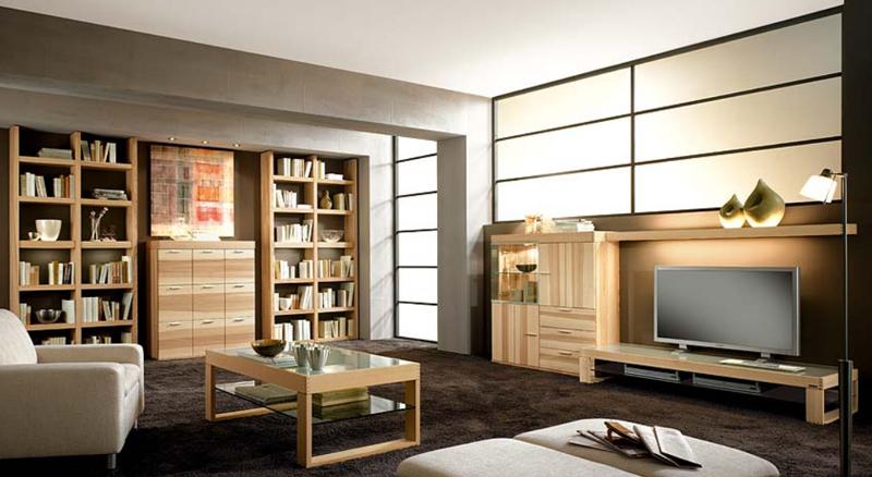 Thielemeyer linea wohnzimmer wohnwand vorzugskomnination for Wohnzimmer regalsystem
