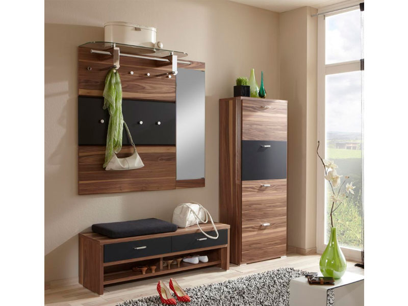 wittenbreder woody plus komplette garderobe flur furnier lack matt schuhschrank ebay. Black Bedroom Furniture Sets. Home Design Ideas