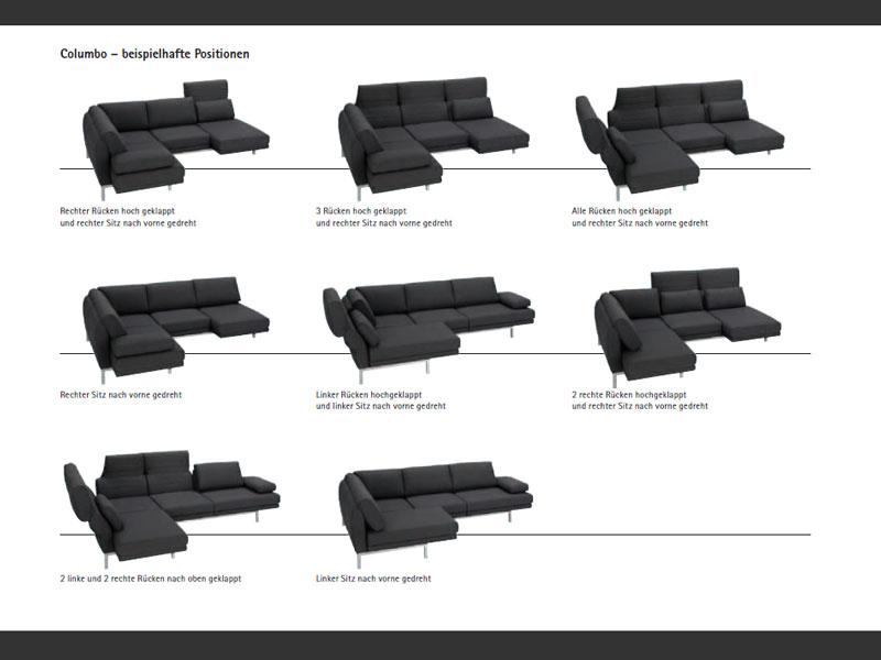 ewald schillig columbo ecksofa sofa 2 sitzer anbausofa relaxfunktion ebay. Black Bedroom Furniture Sets. Home Design Ideas
