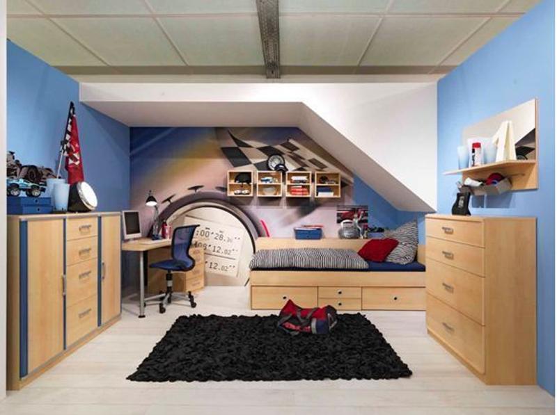 wellem bel jugenzimmer lenja bett schreibtisch. Black Bedroom Furniture Sets. Home Design Ideas