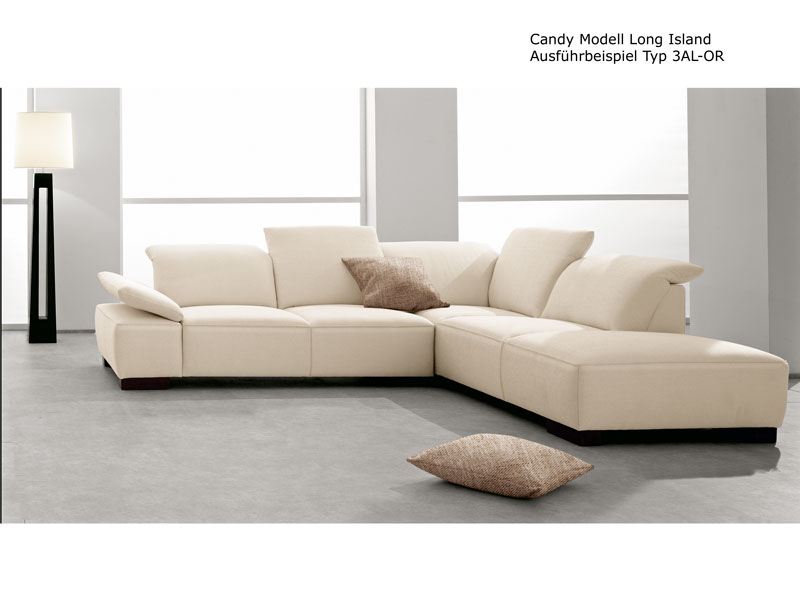 candy ecksofa long island sofa 3 sitzer ottomane polsterm bel f r wohnzimmer ebay. Black Bedroom Furniture Sets. Home Design Ideas