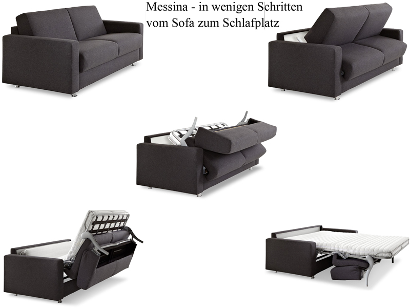 Bali Messina Schlafsofa Mit Longchair Klein Links Bettsofa