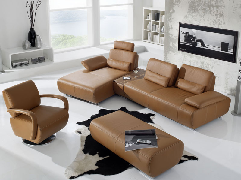 leder sofa garnitur miami k w kw m bel eck couch. Black Bedroom Furniture Sets. Home Design Ideas
