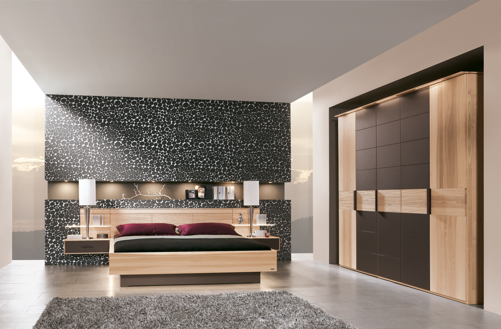 schlafzimmer mira thielemeyer strukturesche massiv bett kleiderschrank konsole ebay. Black Bedroom Furniture Sets. Home Design Ideas