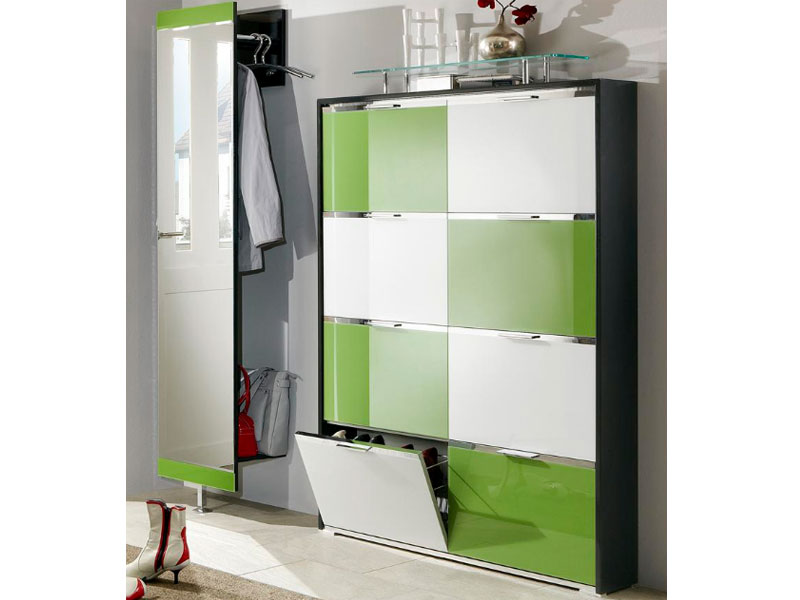 wittenbreder multi color tre schuh klappschrank spiegel garderobe schuhschrank ebay. Black Bedroom Furniture Sets. Home Design Ideas