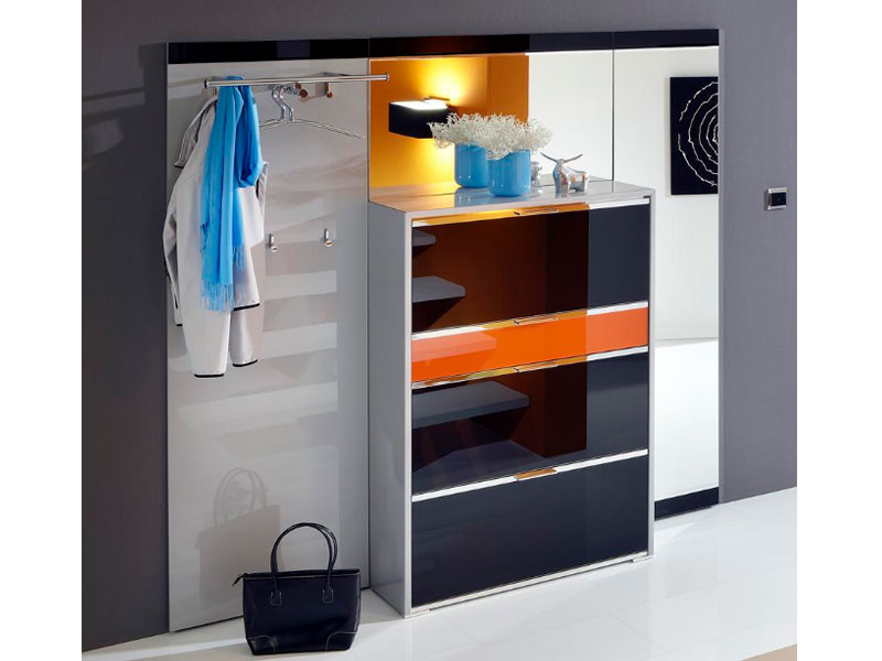 Wittenbreder multi color tre schuh klappschrank spiegel for Garderobe schuhschrank kombination