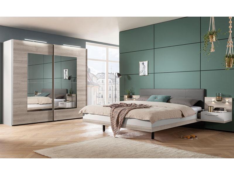 Nolte Möbel Novara Schlafzimmer 4-teilig in Platin-Eiche-Nachbildung ...