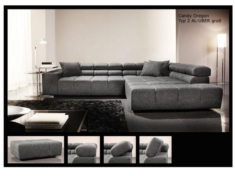 candy ecksofa sofagarnitur oregon polsterecke bergro inklusive 3 spitzkissen ebay. Black Bedroom Furniture Sets. Home Design Ideas