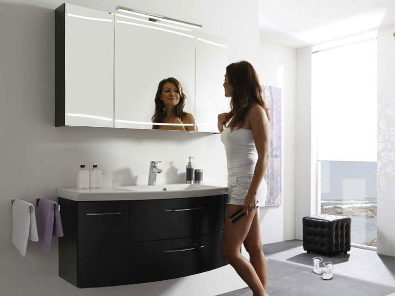 badmobel schwarz, pelipal cassca badmöbel schwarz matt badblock mit spiegelschrank top, Design ideen