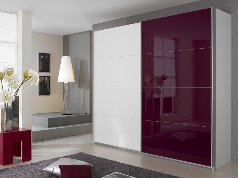 rauch quadra schwebet renschrank breite 4x glas dekor w hlbar neue h he ebay. Black Bedroom Furniture Sets. Home Design Ideas