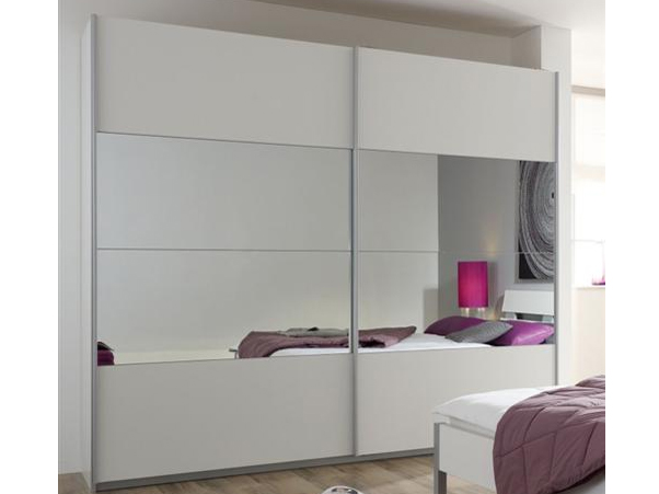 kleiderschrank quadra rauch alpinwei spiegel schrank ebay. Black Bedroom Furniture Sets. Home Design Ideas