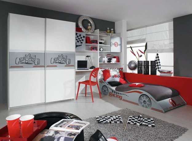 Rauch Racing Kinderzimmer Jugendzimmer Autobett Schrank ...