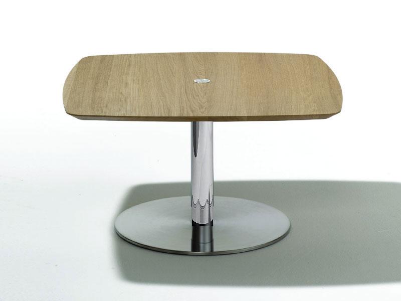 Ronald Schmitt Design Couchtisch P 430 Tischplatte Bombiert 90x90 Cm