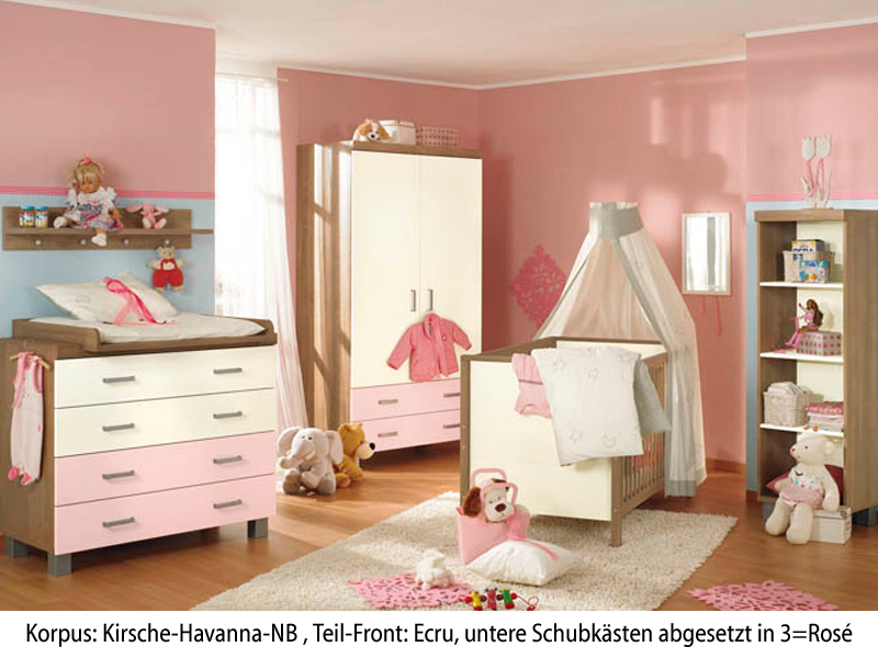 paidi leo babyzimmer kinderzimmer kirsche hav ecru rose ebay. Black Bedroom Furniture Sets. Home Design Ideas