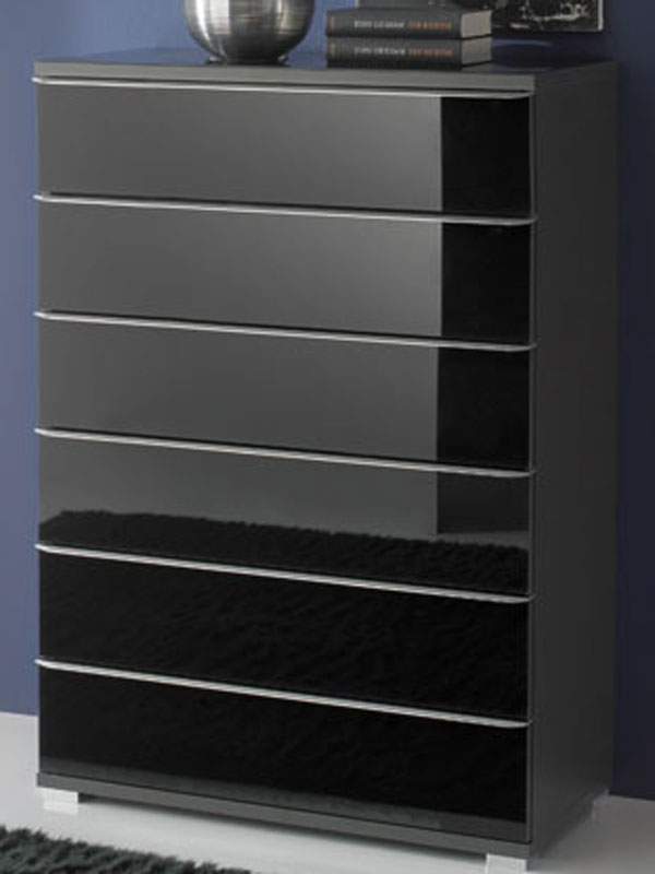 staud rubin schubkastenkommode glasfront 6 schubk sten mit. Black Bedroom Furniture Sets. Home Design Ideas